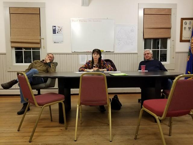 The Monterey Select Board Tuesday Night