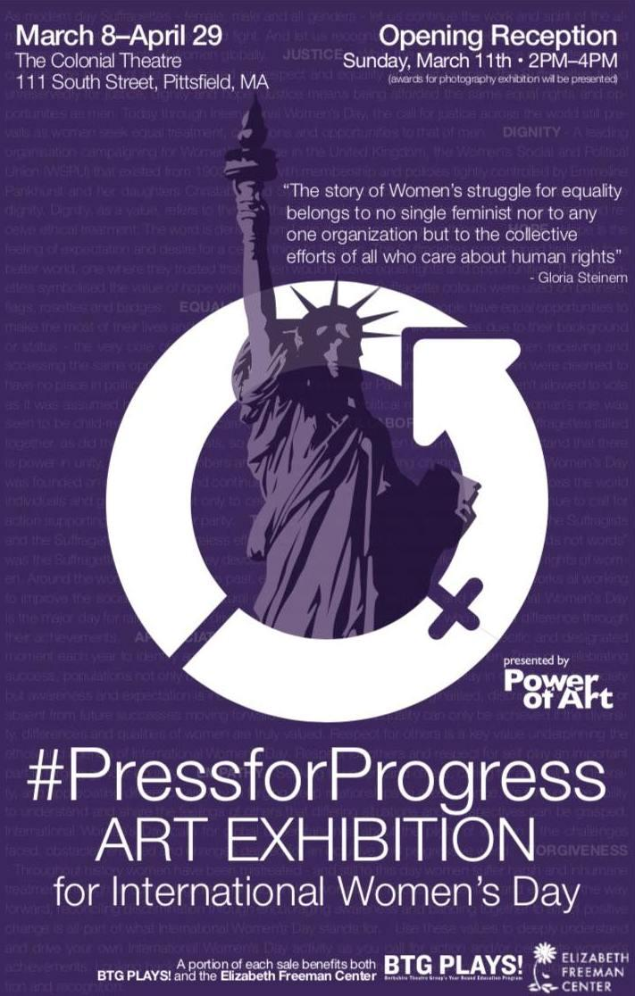 Artwork for #PressforProgress Art show