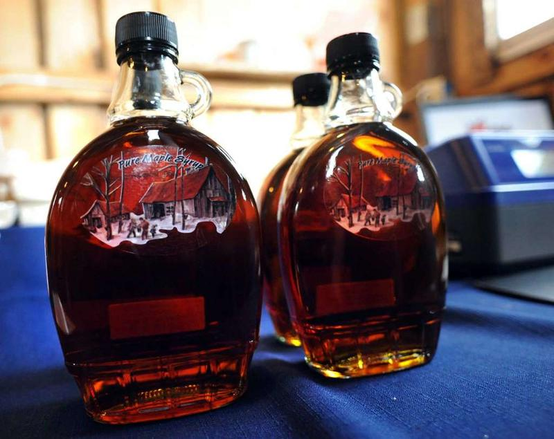 bottles of syrup