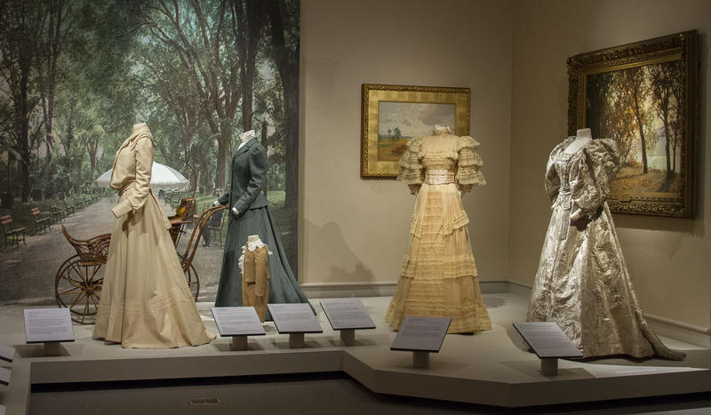 Victorian dresses on display at The Albany Institute of History and Art