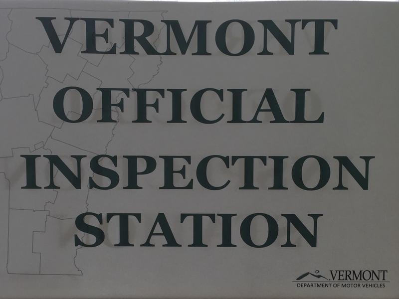 Vermont Inspection Station sign