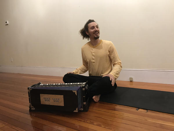 Instructor Alec Butterfield at Supersoul Yoga in Chatham, NY