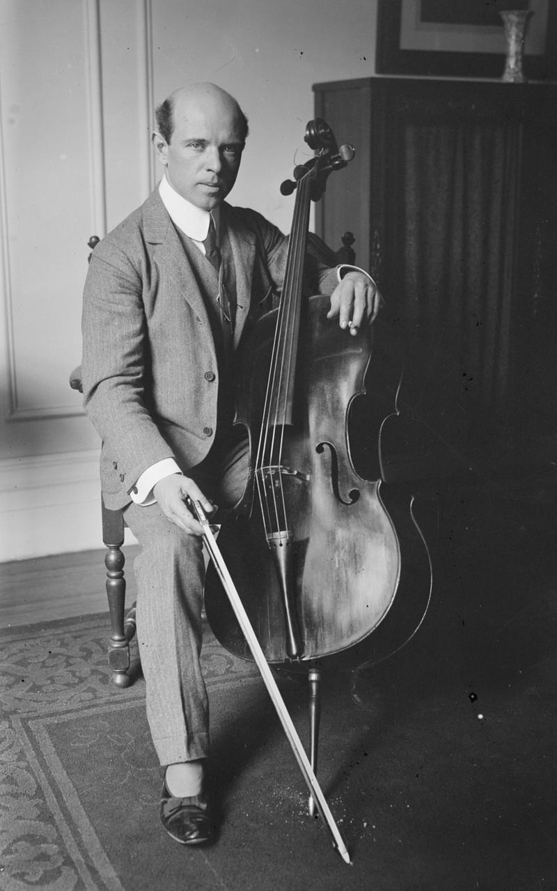 Casals in 1917 at Carnegie Hall