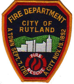 Rutland Vermont Fire Department Patch