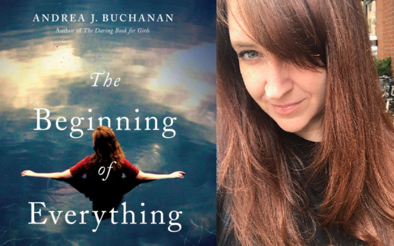 Book Cover for The Begining of Everything and Andrea Buchanan's photo