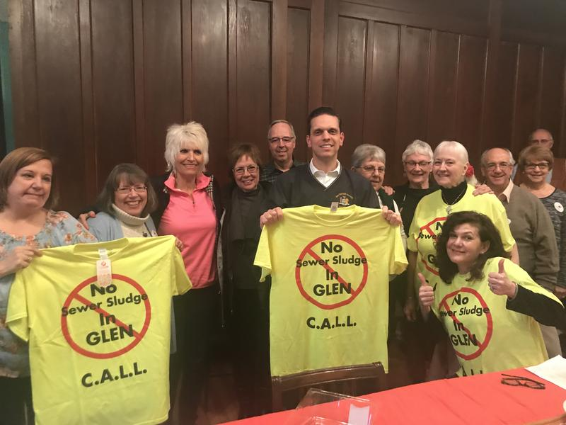 Assemblyman Angelo Santabarbara with Citizens Against Local Landfills