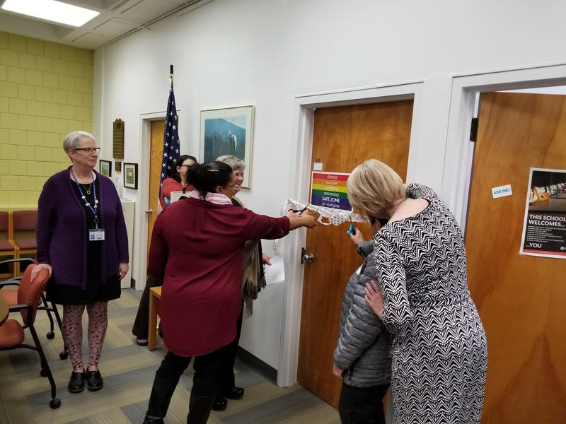 The ribbon is cut on BCC's new women's center