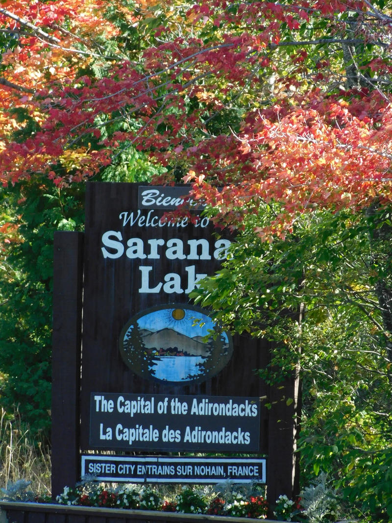 Saranac Lake welcome sign