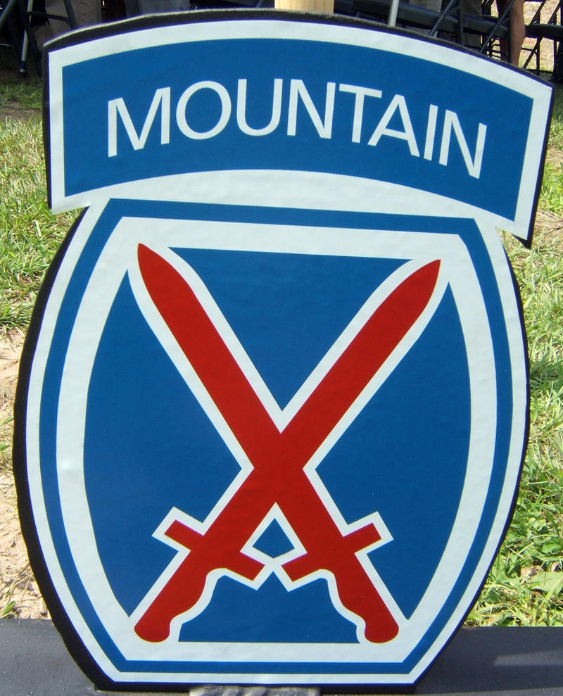 10th Mountain Division placard