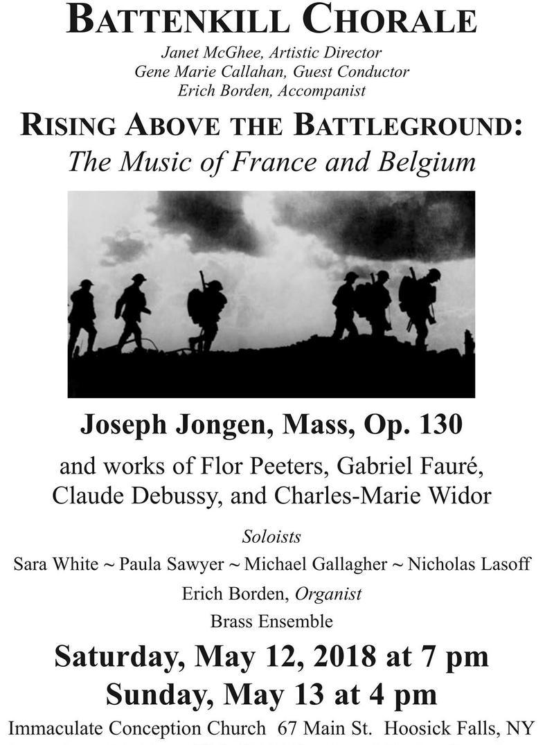 Poster for Battenkill Chorale concert