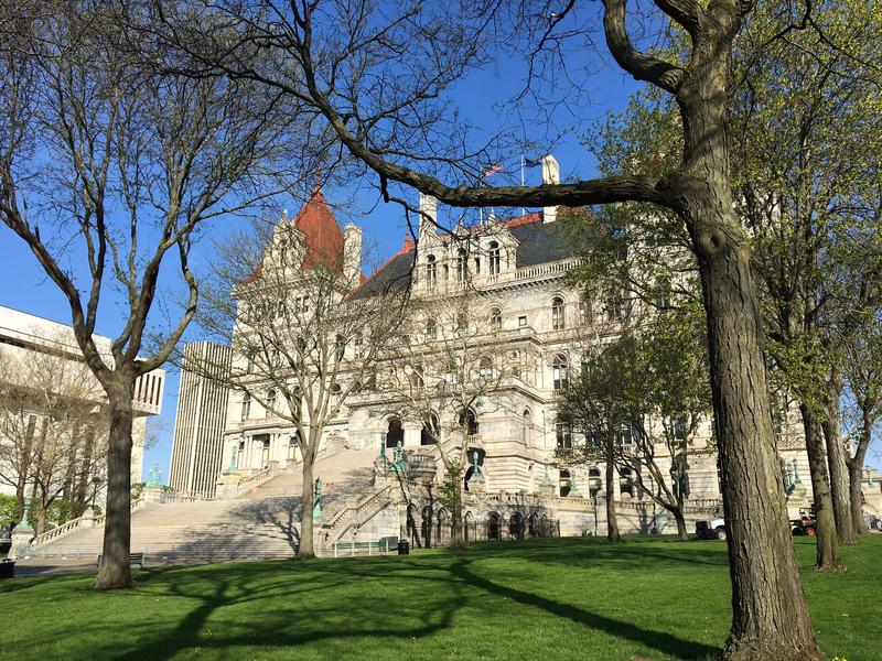 New York state and local leaders joined recreation enthusiasts at the capitol Thursday to recognize the area's biking, hiking and walking trails and call for more options.