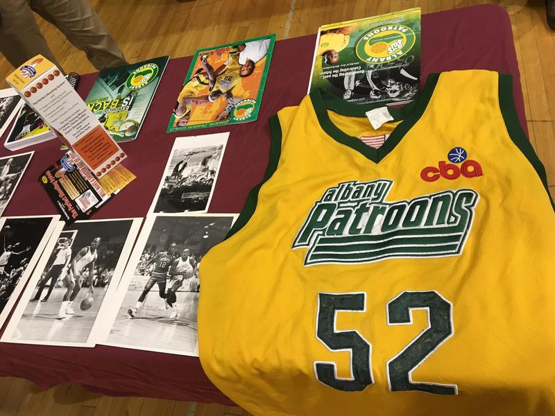 Albany Patroons Memorabilia from the team's CBA days.