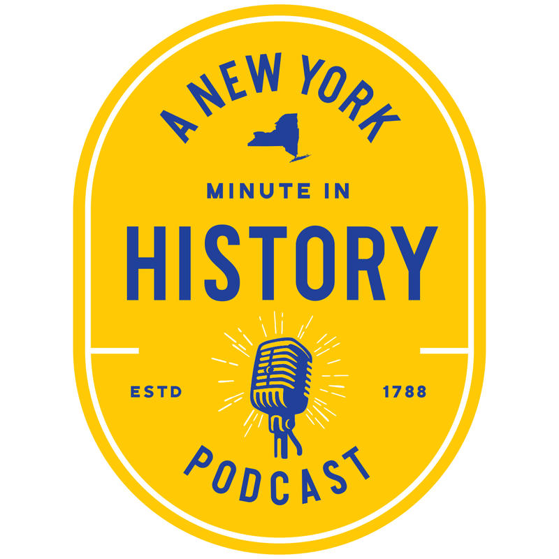 logo for A New York Minute In History podcast