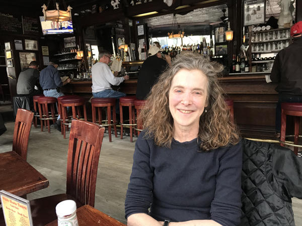 Author Andrea Barnet at the White Horse Tavern