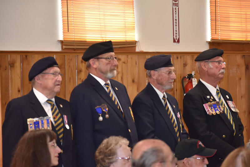 Members of the Royal Canadian Legion Post 244 from Hemmingford, Quebec