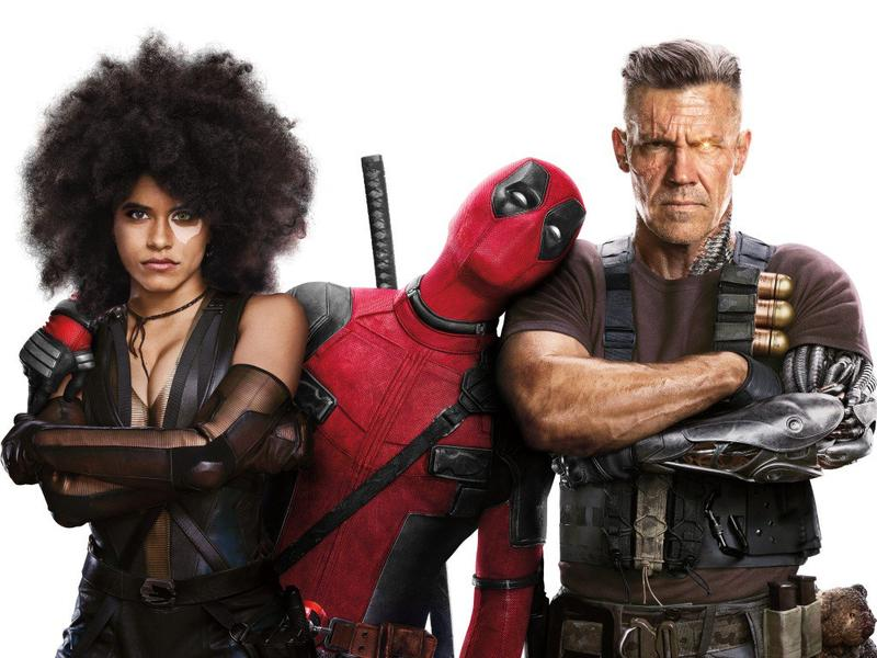 Domino, Deadpool, and Cable from Deadpool 2