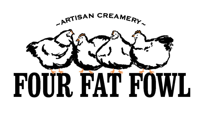 Four Fat Fowl creamery logo