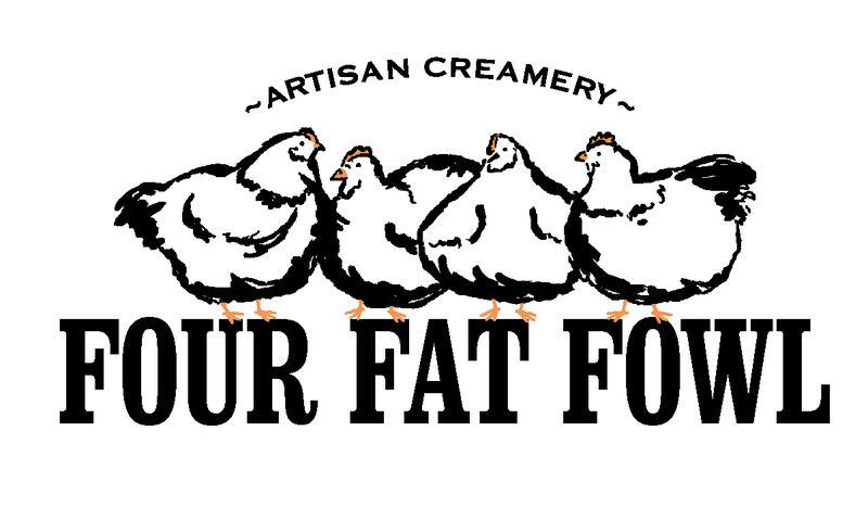 Four Fat Fowl creamery logo