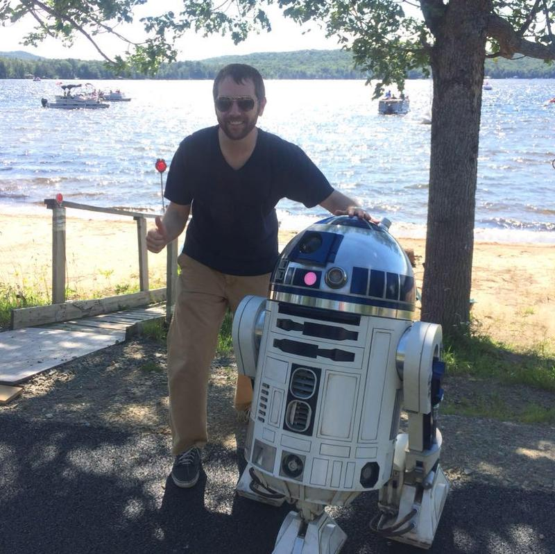 A picture of Ian with R2-D2