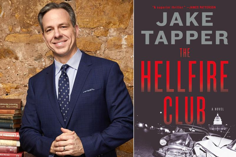 Jake Tapper author photo and book cover for The Hellfire Club