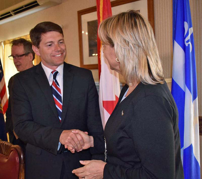 NY Assemblyman D. Billy Jones with Longueuil Mayor Sylvie Parent