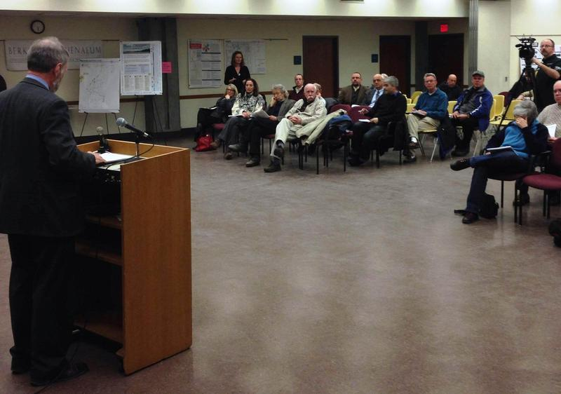 Karns presents the commission's master plan in 2014.