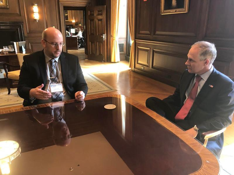 Hoosick Falls Mayor Rob Allen sits down with EPA Administrator Scott Pruitt