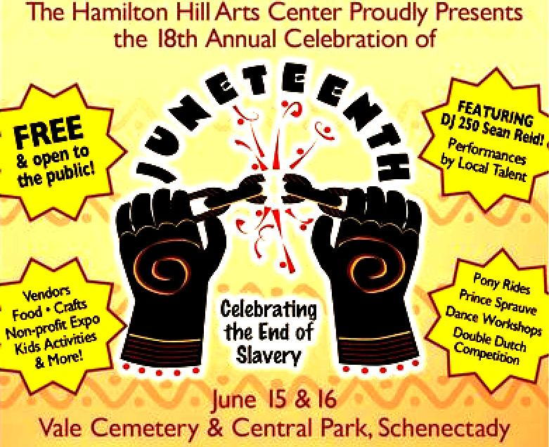 Schenectady's African American community invites everyone to join the Juneteenth celebration!