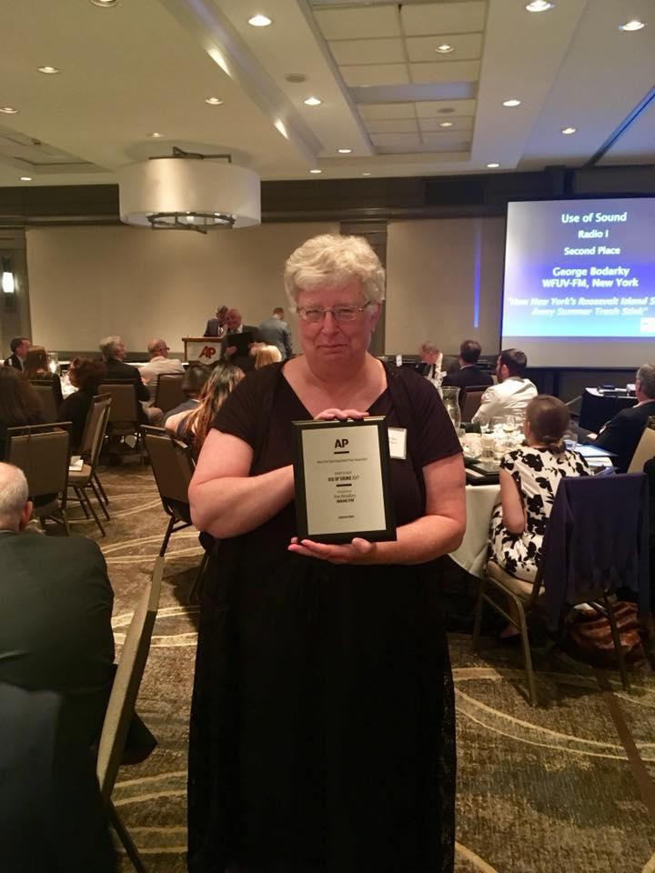 WAMC's North Country Bureau Chief Pat Bradley won first place for Use of Sound.