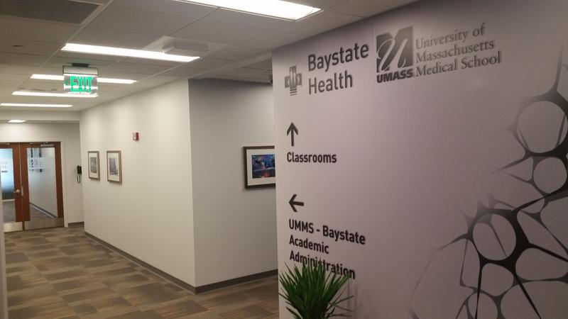 Lobby of the UMass Medical School-Baystate Health campus