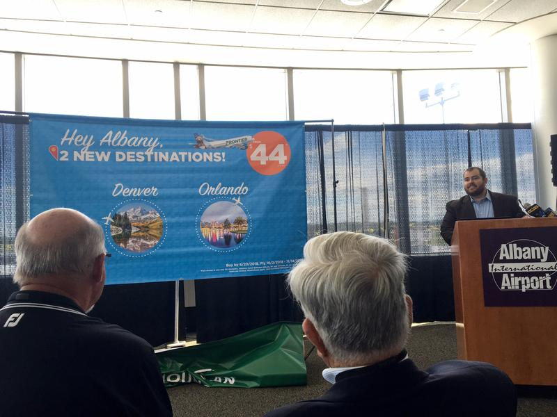Seth Neuschwander details Frontier Airlines' plan for Albany International Airport service.