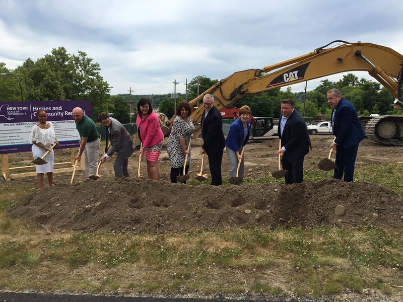 Albany Mayor Kathy Sheehan joined other officials for a ceremonial groundbreaking of phase two of the redevelopment project.
