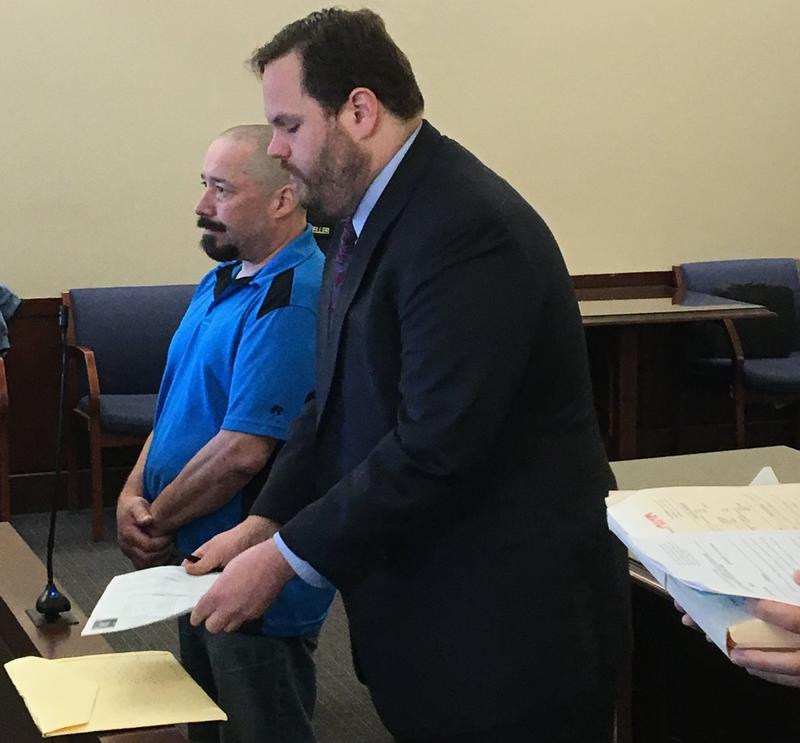 John Gomes is sentenced in Albany County Court, June 2018.