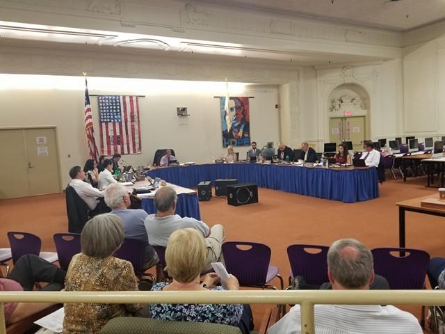 The Pittsfield City Council at its June 12th meeting in the Pittsfield High School library.