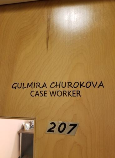 Gulrmira Churokova's office at the Berkshire Immigrant Center in Pittsfield.