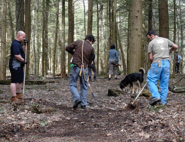BNRC volunteers at work at The Boulders in Dalton, Massachusetts.