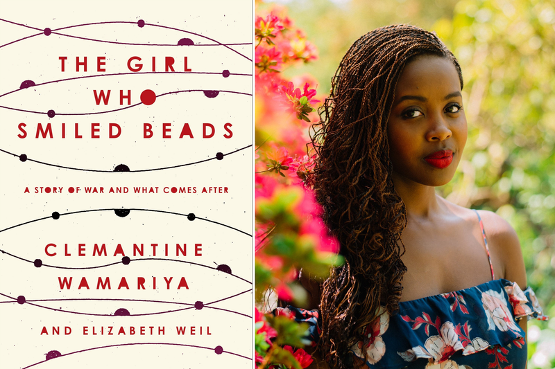 Book Cover - The Girl Who Smiled Beads and author photo of Clemantine Wamariya