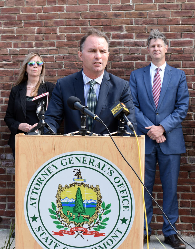 Vermont Attorney General T.J. Donovan announces consumer protection settlement with Volkswagen