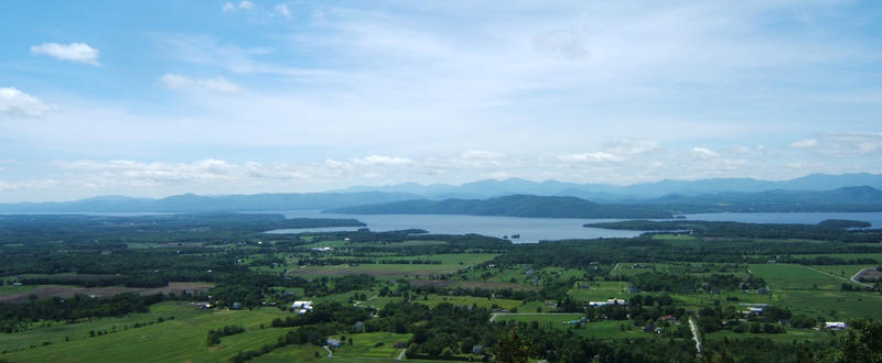 View of Lake Champlain from Mt. Philo, VT