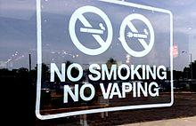 a no smoking no vaping sign