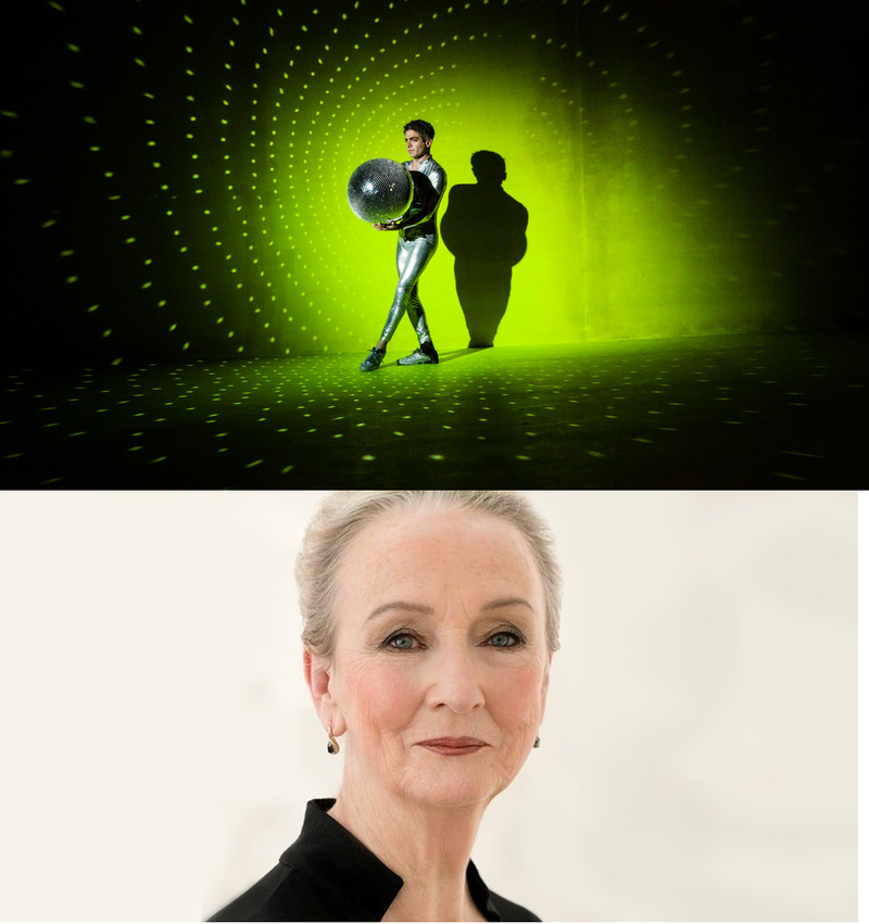 "Jack Ferver as Tinker Bell in ""Peter Pan"" at Bard SummerScape festival. (Credit Lauren Lancaster for The New York Times) -- and Kathleen Chalfant (credit - playwrightshorizons.org)"