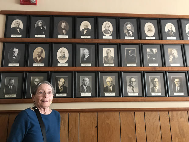 Kinderhook municipal historian Ruth Piwonka with Kinderhook,NY mayors