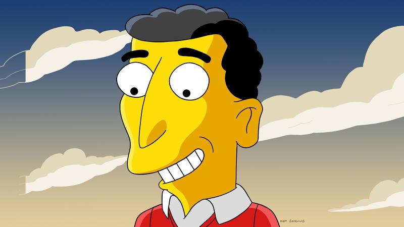 Mike Reiss as drawn by Matt Groening.