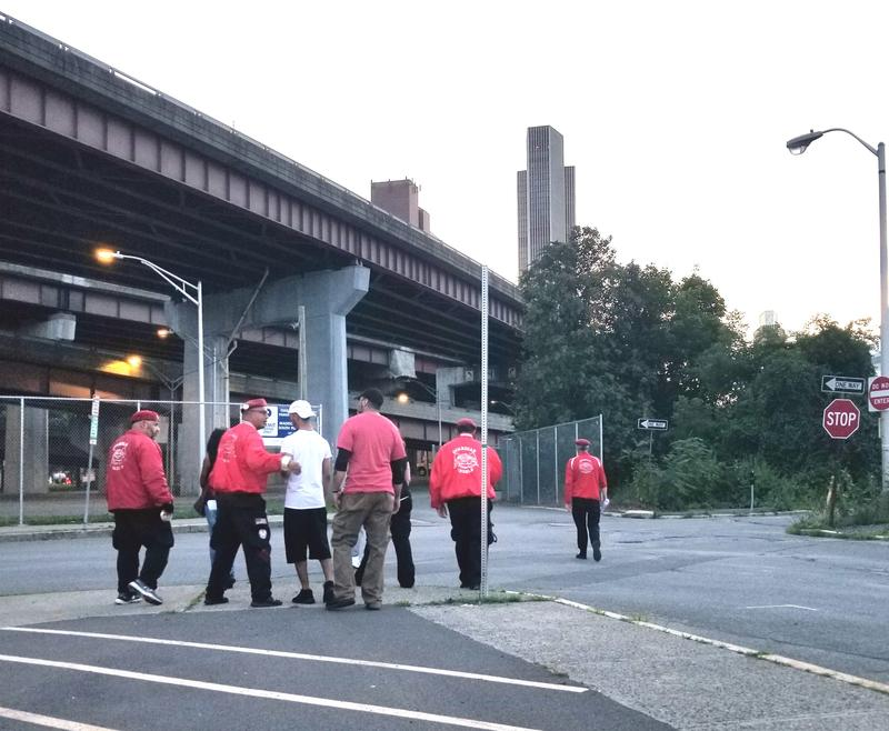 Curtis Sliwa leads new recruits on a patrol of Albany's South End.