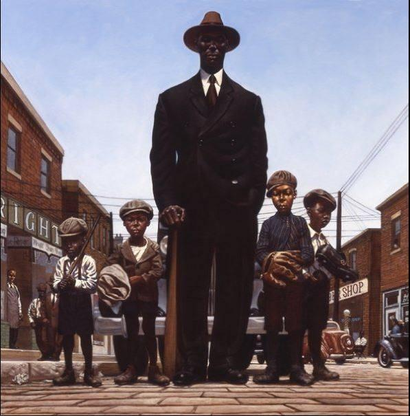 """Willie Foster and Young Fans"" by Kadir Nelson"