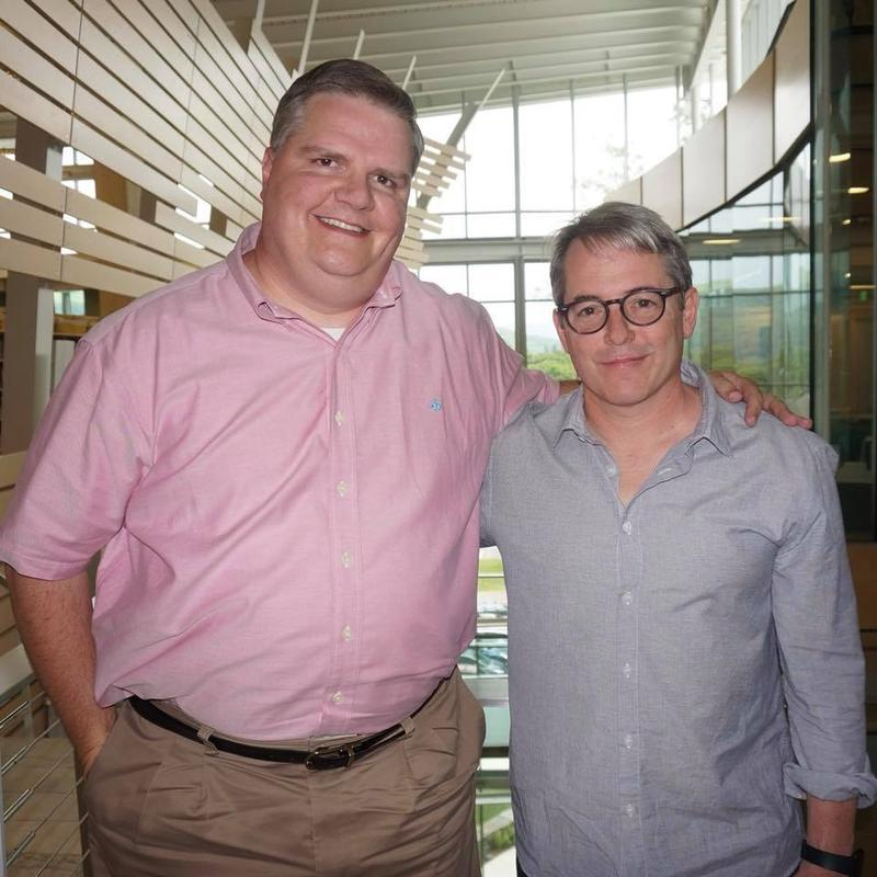 Joe Donahue and Matthew Broderick