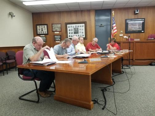 The North Adams Airport Commission at their July 24th, 2018 meeting.