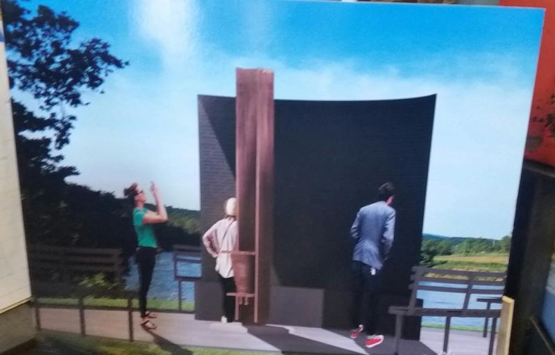 A rendering shows the finished 9/11 memorial installed at Springfield's Riverfront Park