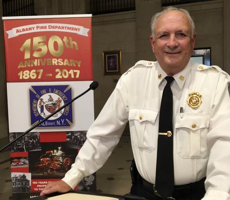 AFD Fire Chief Warren Abriel, in a 2017 photo.