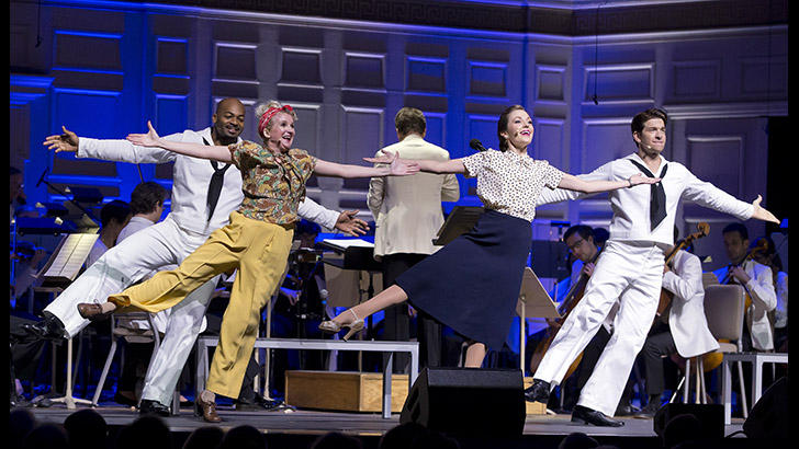 Brandon Victor Dixon, Megan Lawrence, Laura Osnes, and Andy Karl perform ON THE TOWN with the Boston Pops.